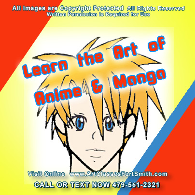 Summer programs in Fort Smith AR. Take summer kids and childrens art lessons and classes  after school  and learn the art of Manga. Amazing stuff is created  in lessons of art right here in Fort Smith, Arkansas